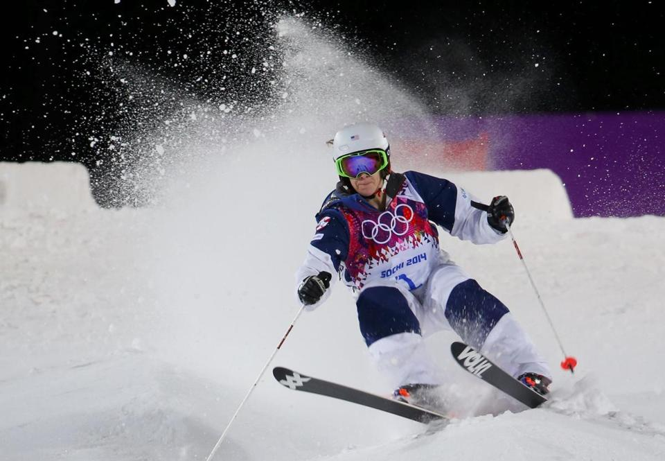 Defending moguls champ Hannah Kearney of Norwich, Vt., was out of rhythm, stumbling all the way to the bronze.